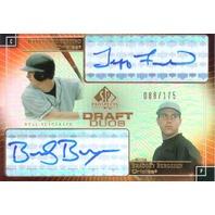 2004 SP Prospects Draft Duos Dual Autographs #FB Jeff Fiorentino/Brad Bergesen