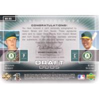 2004 SP Prospects Draft Duos Dual Autographs #SS Huston Street/Kurt Suzuki