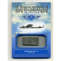 2018 Upper Deck Museum Collection Aviation Jumbo Relics Dornier Do 17 Bomb Rack