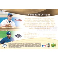 2005 Reflections Dual Signatures #MGRW Marcus Giles/Rickie Weeks T1 EXCH