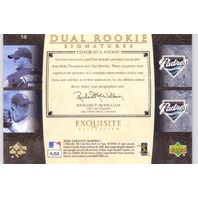 Clay Hensley Mike Thompson 2006 Exquisite Collection Dual Signatures Auto RC /55