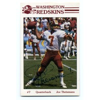 1985 Frito Lay Washington Redskins Police Joe Theismann #7 Auto On Card JSA COA