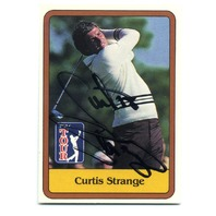 1981 Donruss #3 Curtis Strange RC PGA Tour Golf Auto On Card JSA COA