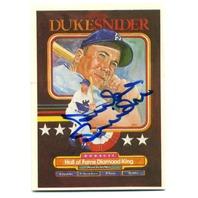 1984 Donruss #648 Duke Snider Puzzle Card Autograph Auto On Card JSA COA