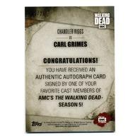 2016 The Walking Dead Season 5 Autographs Mold Chandler Riggs as Carl Grimes /25