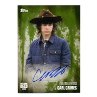 2016 The Walking Dead Season 5 Autographs Mold Chandler Riggs as Carl Grimes /25
