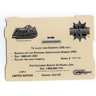 1996 Finish Line Mega-Phone XL Phone Cards #2 Bill Elliott