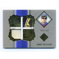 2013 Total Memorabilia Dual Swatch Gold #TMDG David Gilliland /199