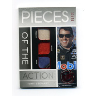 2012 Press Pass Redline Pieces of the Action Red #PATS Tony Stewart /75