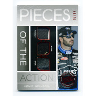 2012 Press Pass Redline Pieces of the Action Red #PAJJ Jimmie Johnson /75