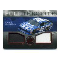 2012 Press Pass Redline Full Throttle Dual Relic Red #FTJJ Jimmie Johnson /75
