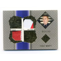 2013 Total Memorabilia Dual Swatch Gold #TMCW Cole Whitt /199