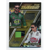 2017 Absolute Team Tandems Spectrum Silver #9 Corey LaJoie/Gray Gaulding /99