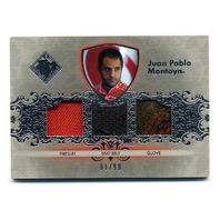 2012 Total Memorabilia Triple Swatch Silver #TMJPM Juan Pablo Montoya /99