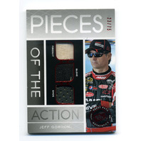 2012 Press Pass Redline Pieces of the Action Red #PAJG Jeff Gordon /75