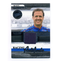2006 Press Pass Legends Racing Artifacts Firesuit Silver #RWF Rusty Wallace /199