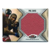 2012 Finest UFC Jumbo Fight Mat Relics #FFJMPD Phil Davis Red