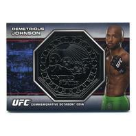 2013 Topps UFC Bloodlines Octagon Coins #OCDJ Demetrious Johnson /108