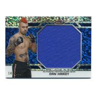 2013 Finest UFC Threads Jumbo Fighter Relics Refractors Blue Dan Hardy 143/188