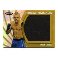 2012 UFC Finest Threads Jumbo Fighter Relics Refractor Gold #JFTCL Chuck Liddell