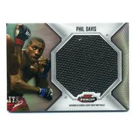 2012 Finest UFC Jumbo Fight Mat Relics #FFJMPD Phil Davis Black