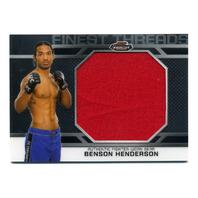 2013 Finest UFC Finest Threads Jumbo Fighter Relics #JFTBH Benson Henderson