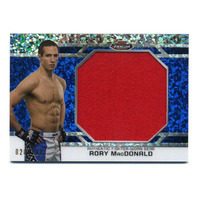 2013 UFC Finest Threads Jumbo Fighter Relic Refractor Blue #JFTRM Rory MacDonald