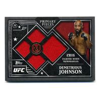 2016 UFC Museum Collection Primary Pieces Quad Relics Gold Demetrious Johnson