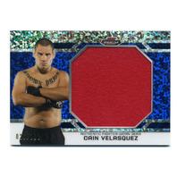 2013 UFC Finest Threads Jumbo Fighter Relic Refractor Blue JFTRCV Cain Velasquez