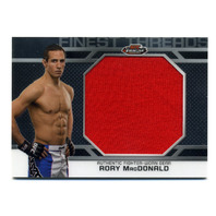 2013 Finest UFC Finest Threads Jumbo Fighter Relics #JFTRM Rory MacDonald Red
