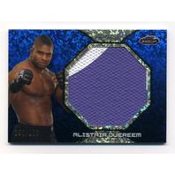 2013 Finest UFC Jumbo Fight Mat Relics Refractors Blue #FFMAO Alistair Overeem