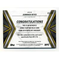 2019 Topps UFC Knockout Jumbo Fight Mat Relics #JFMRDR Dominick Reyes /99