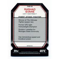 2011 Finest UFC Atomic Refractors #FAR15 Rashad Evans