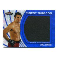 2012 UFC Finest Threads Jumbo Fighter Relics X-Fractors #JFTCS Chael Sonnen /188