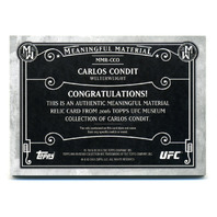 2016 Topps UFC Museum Collection Meaningful Materials Gold #MMRCCO Carlos Condit