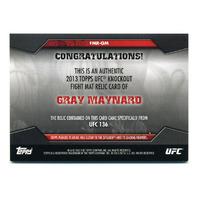 2013 Topps UFC Knockout Fight Mat Relics Green #FMRGM Gray Maynard /88