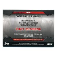 2013 Topps UFC Knockout Fight Mat Relics Green #FMRSC Matt Mitrione /88