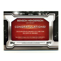 2016 Topps UFC Knockout Relics #KRBH Benson Henderson /188