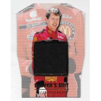 Bill Elliot NASCAR 1996 Pinnacle Drivers Suit Die-cut /1  Black firesuit  (x)