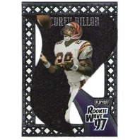 COREY DILLON 1997 Playoff Contenders Rookie Wave Pennants Black Felt DieCut Card