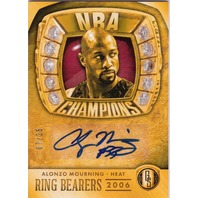 2014 Alonzo Mourning Ring Bearers Gold Standard Autograph /25