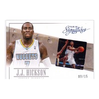 2014 J.J. Hickson Panini Signatures Game Still Insert