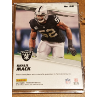 KHALIL MACK 2017 Panini Day Player Worn Memorabilia Cracked Ice Prizm /25 Bears