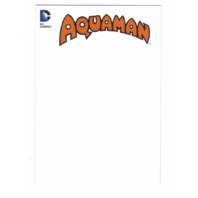 2016 DC Comics Justice League Blank Cover Box Toppers Sketch Card #BT5 Aquaman