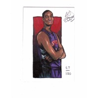 Chris Bosh 2003 AOJ Lithocard Artist Sketch 67/100 Raptors NBA