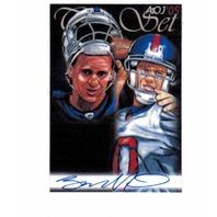 Eli Manning 2005 AOJ Lithocard Signed Artist Sketch NFL Jonathan D. Gordon