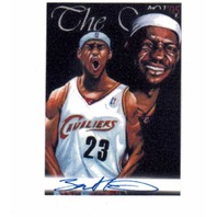 LeBron James 2005 AOJ Lithocard Signed Artist Sketch NBA Jonathan D. Gordon