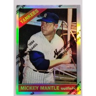 MICKEY MANTLE 1996 Topps Finest Commemorative Set 1966 Refractor #15
