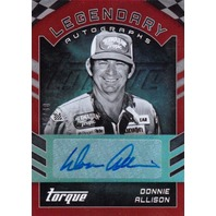 Donnie Allison 2016 Panini Torque Legendary Autograph Red 15/40 auto