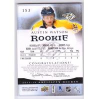 2013 Austin Watson Upper Deck Artifacts Rookie Relic /15